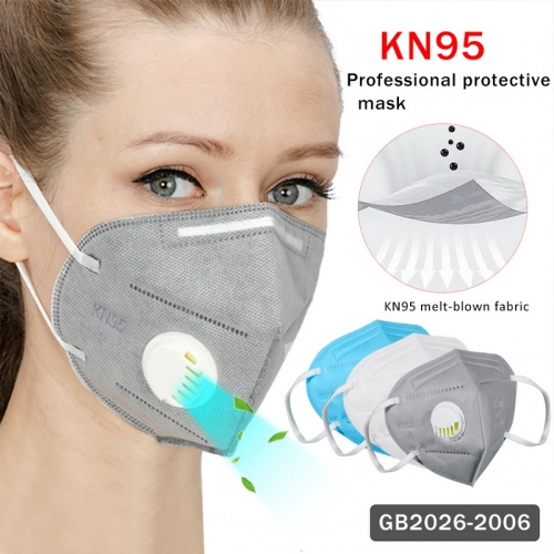 6-Layer KN95 Respirators with Breathing Valve