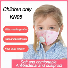 KN95 Child Kids Four-layer Face Mask With Valve Disposable Respirator n95 Elastic Mouth Soft Breathable Soft Breathable Anti Flu