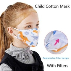 Children Cotton Mask Anti Dust Anti-pollution N95 PM2.5 Masks Unisex with Filters