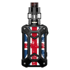 steel case UK flag black