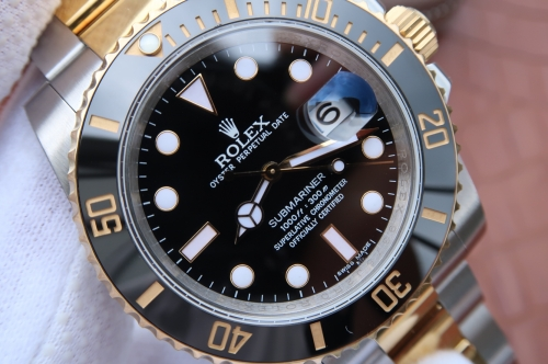 Rolex Submariner Date 116613LN 2018 N V8S 24K Yellow Gold Wrapped & Stainless Steel Black Dial Swiss 3135
