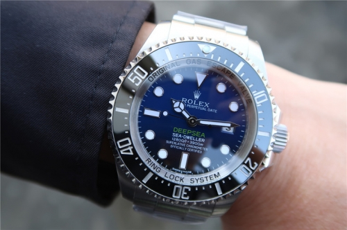 "rolex Sea-Dweller Deepsea 116660 ""D-BLUE"" 904L Stainless Steel Blue Black Dial ARF 1:1 Best Edition On 904L Stainless Steel Bracelet SA.3135"