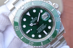 Rolex Submariner 116610 LV Green Ceramic Newest Noob V8S Best Edition on Stainless Steel Bracelet SA.3135