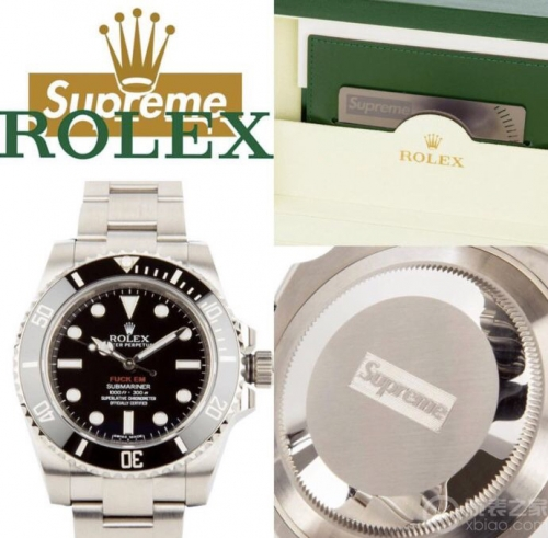 "Rolex Submariner 116610 LN Stainless Steel Supreme ""FUCK EM"" Noob V7 1:1 Best Edition Limited Edition on Stainless Steel Bracelet ETA 2836"
