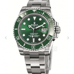 Rolex Submariner Date 116610LV Noob Factory VR 1:1 Best Edition, Stainless Steel, Green Aluminium Bezel, Green Dial, Stainless Steel Bracelet, SWISS E