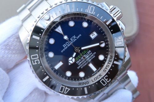 "Rolex Deepsea 116660 V7 Stainless Steel D-Blue Dial Swiss 3135  Rolex Sea-Dweller Deepsea 116660 ""D-BLUE"" Stainless Steel Blue Black Dial Noob V7 1:1"