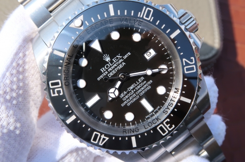 Rolex Deepsea 116660 Noob Factory V7 1:1 Best Edition, Stainless Steel & Titanium, Ceramic Bezel & Platinum Markers, Black Dial, NEW Rolex Stainless S