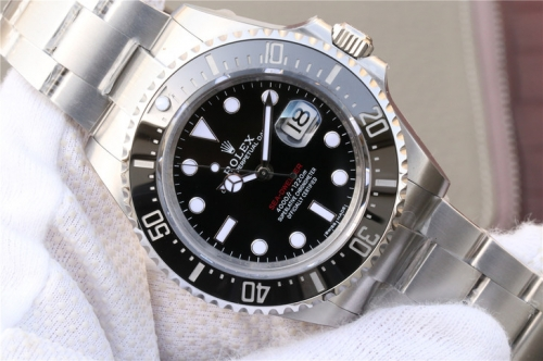 Rolex Sea-Dweller 126600 43mm 2017 Baselworld 50th Anniversary Black Ceramic GM V2 1:1 Best Edition 904L SS Case and Bracelet A2824 (Correct Thick &