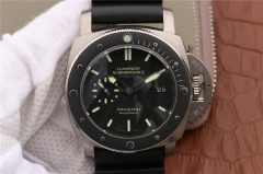 Mens Panerai Luminor Submersible 1950 Amagnetic 3 Days PAM389 VS V2 Titanium Black Dial Swiss P9000 watches