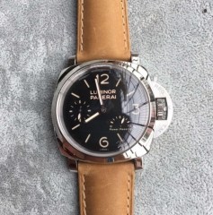 Mens Panerai Luminor 1950 3 Days PAM 423 Stainless Steel Black Dial Swiss P3002
