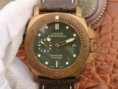 Mens Panerai Luminor Submersible PAM382 N Bronzo XF 1:1 P.9000 Mechanical Automatic Mens Watch Watches