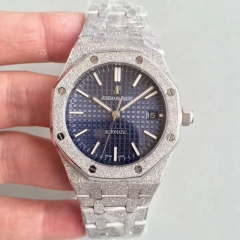 Audemars Piguet Royal Oak Frosted Gold 37MM 15454 JH Stainless Steel Blue Dial Swiss 3120