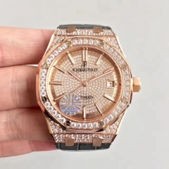 Audemars Piguet Royal Oak 15450 JF Rose Gold & Diamonds Diamond Dial Swiss ETA 3120