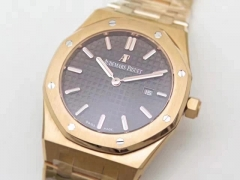 Audemars Piguet Royal Oak 15450 JF Rose Gold Black Dial Swiss 3120 ETA
