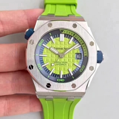 Audemars Piguet Royal Oak Offshore Diver 15710ST.OO.A038CA.01 JF Stainless Steel Green Dial Swiss ETA 3120