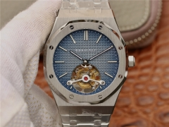 Audemars Piguet Royal Oak 26510OR.OO.120OR.01 Working Tourbillon Stainless Steel R8F V2 1:1 Best Edition Skeleton Dial On Stainless Steel Bracelet A.S