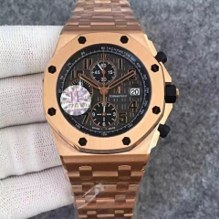 Audemars Piguet Royal Oak Offshore 26470OR.OO.1000OR.01 JF V2 Rose Gold Gold Dial Swiss 3126