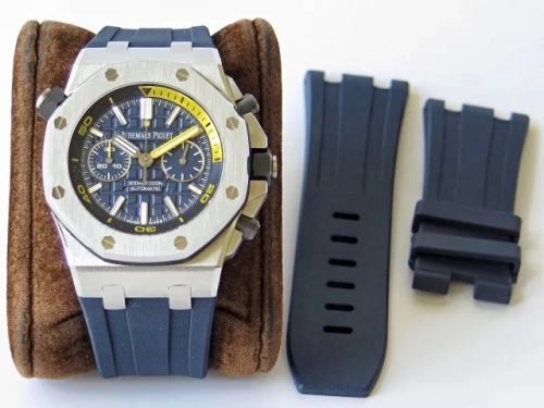 Audemars Piguet Royal Oak Offshore Diver Chronograph 26703ST.OO.A027CA.01 JF Stainless Steel Blue Dial Swiss 3124