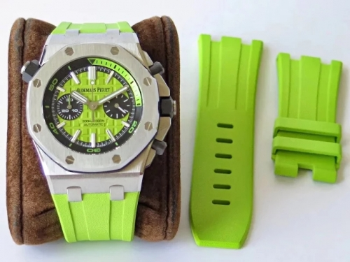 Audemars Piguet Royal Oak Offshore Diver Chronograph 26703ST.OO.A038CA.01 JF Stainless Steel Green Dial Swiss 3124