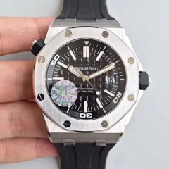 Audemars Piguet Royal Oak Offshore Diver 15710 Stainless Steel Black Dial Swiss 3120 5A