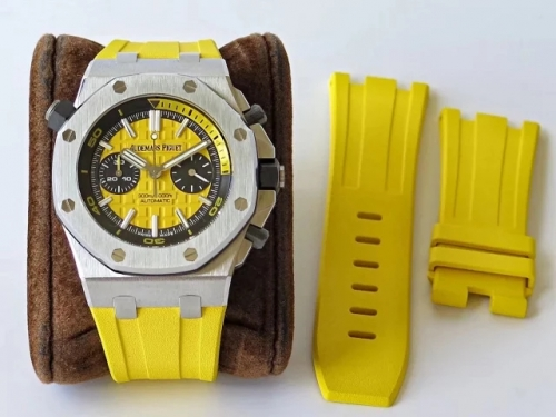 Audemars Piguet Royal Oak Offshore Diver Chronograph 26703ST.OO.A051CA.01 JF Stainless Steel Yellow Dial Swiss 3124