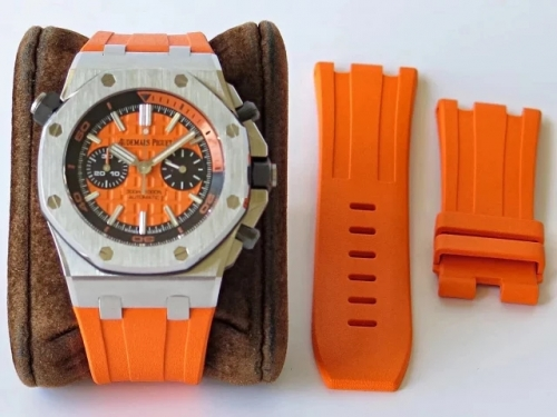Audemars Piguet Royal Oak Offshore Diver Chronograph 26703ST.OO.A070CA.01 JF Stainless Steel Orange Dial Swiss 3124
