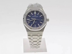 Audemars Piguet Royal Oak 15450 JF factory  Stainless Steel & Diamonds Blue Dial Swiss 3120