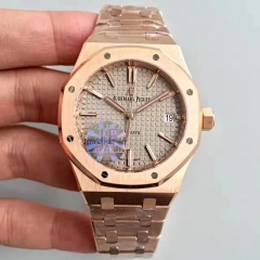 Audemars Piguet Royal Oak 15450 JF factory Rose Gold Brown Dial Swiss 3120