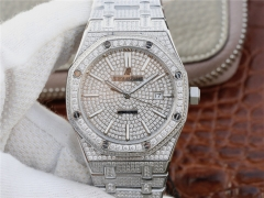 Audemars Piguet Royal Oak series 15400.OR starry diamonds table a small arrival loaded with 316L Silver dial cal.3120