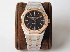 Audemars Piguet Royal Oak 37mm 15450 18K Rosegold Bezel Two Tone JF 1:1 Best Edition black Dial on Two Tone Bracelet ETA 3120