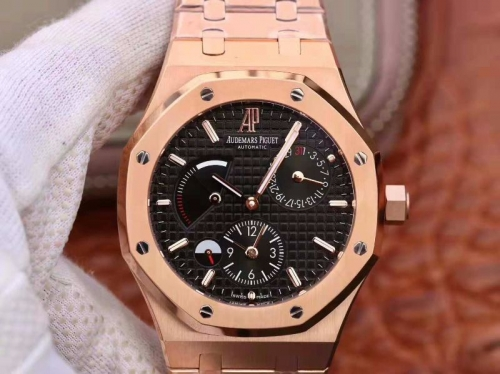 Audemars Piguet Royal Oak GMT 41MM 26120 TWA Rose Gold black Dial Swiss 2329 26120ST.OO.1220ST.02