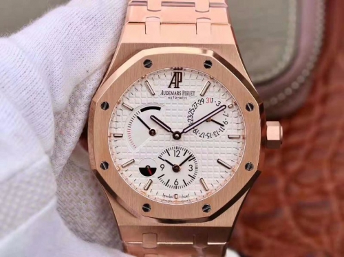 Audemars Piguet Royal Oak GMT 41MM 26120 TWA Rose Gold white Dial Swiss 2329 26120ST.OO.1220ST.02