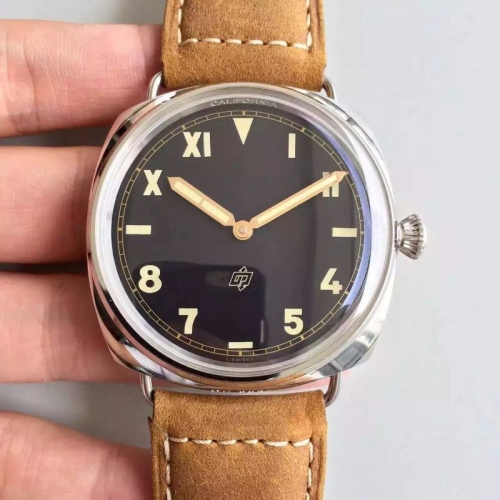 Panerai Radiomir PAM424 Q ZF Factory  1:1 Best Edition California Dial on Brown Asso Strap P.3000 Super Clone
