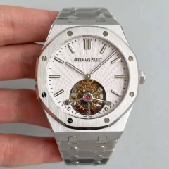 Audemars Piguet Royal Oak Tourbillon Extra Thin 26522OR.OO.120OR. R8 Stainless Steel White Dial Swiss 2924