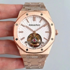 Audemars Piguet Royal Oak Tourbillon Extra Thin 26510OR.OO.1220OR.02 R8 Rose Gold White Dial Swiss 2924