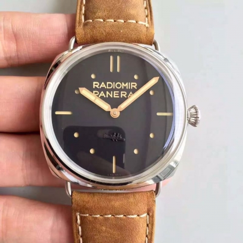Panerai Radiomir PAM425 O Stainless Steel Case S.L.C Dial SF Factory  1:1 on Brown Asso Leather Strap P.3000 Super Clone