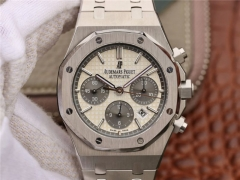 Audemars Piguet Royal Oak Chronograph 26331ST.OO.1220ST.03 Stainless Steel JH1:1 Best Edition White Dial Black Subdial on Stainless Steel Bracelet 775