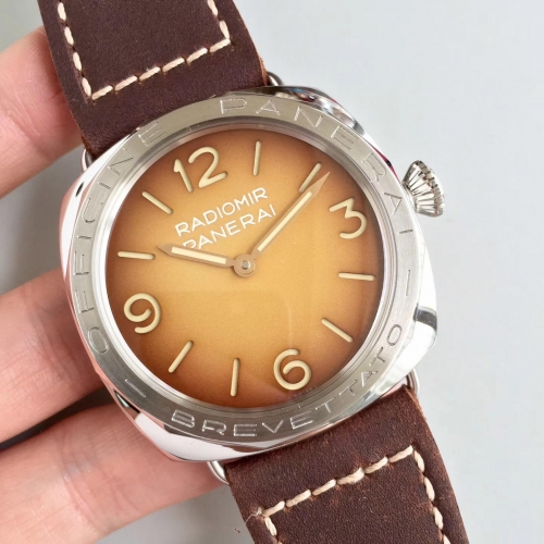 Panerai Radiomir 3 Days Acciaio Brevettato PAM687 zf Factory  Stainless Steel Brown Dial Swiss P3000
