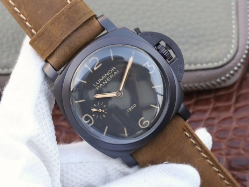 Panerai Luminor 1950 3 Days PAM 375 Composite Black Dial Swiss 3000 Factory V6F 1:1 Best Edition,