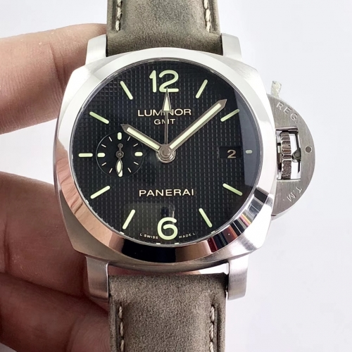 Panerai Luminor PAM 535 Q ZF Factory Best Edition Paris Hobnails Dial on Gray Asso Strap P9001