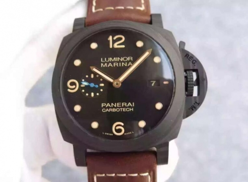 Panerai Luminor Marina 1950 PAM 661 ZF Factory  Carbotech Black Dial Swiss P9010