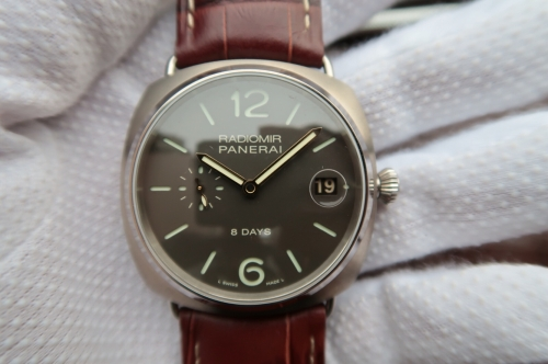 ZF Factory Panerai PAM346. P2002 manual machine, 45 mm, steel case, sapphire crystal, cowhide strap, back, waterproof 100 m