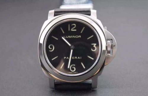 Panerai Luminor Base PAM 112 Stainless Steel Black Dial Swiss OP XI