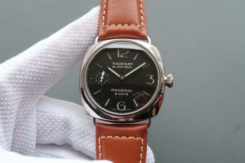 Panerai Radiomir Black Seal 8 Days Noob XF Factory PAM 609 Stainless Steel Black Dial Swiss P5000