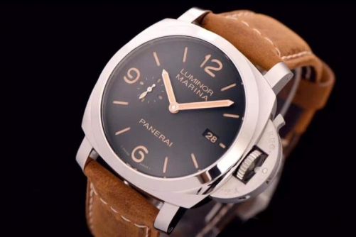 XF factory Panerai PAM608, watch AISI316L steel case with Italian imported calfskin strap, ETA7750 automatic movement