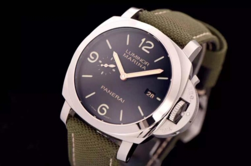 "Panerai Luminor PAM618 XF Factory  Luminor Marina ""Hong Kong"" V6F Stainless Steel Case on Green Nylon Strap A.7750"