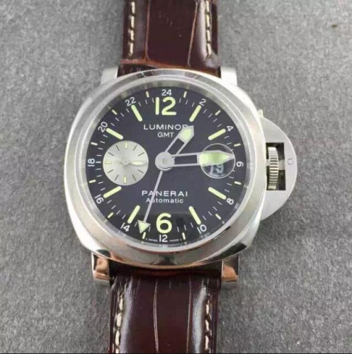 Panerai Luminor GMT PAM088 N Noob Factory  Stainless Steel Black Dial Swiss 7750