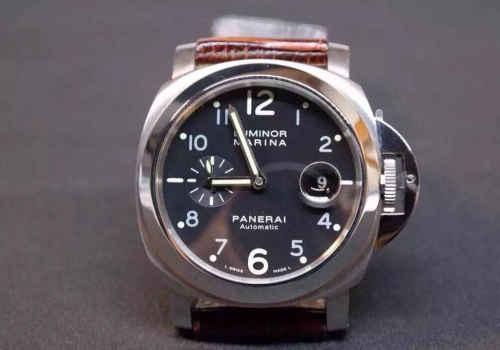 Panerai Luminor PAM164 O Stainless Steel Superlumed Black Dial 1:1 Noob Best Edition on Black Leather Strap ETA 7750