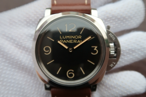Panerai Luminor 1950 PAM372 N Stainless Steel Case ZF 1:1 Edition on Thick Brown Leather Strap P.3000 Super Clone