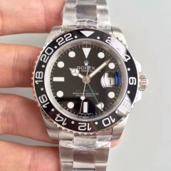 Rolex GMT-Master II 116710LN V7 Noob Factory  Stainless Steel Black Dial Swiss 3186